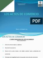 Actos de Comercio (Clase 22 Agosto 2017)