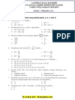 Latihan Soal UAS Matematika Kelas 8 Semester 1