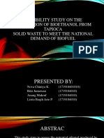 Feasibility Study on the Production of Bioethanol From