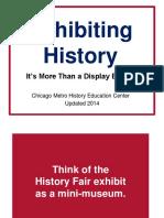 Exhibiting History Update 2014