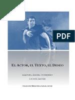 El Actor El Texto El Deseo Coleccion Bib