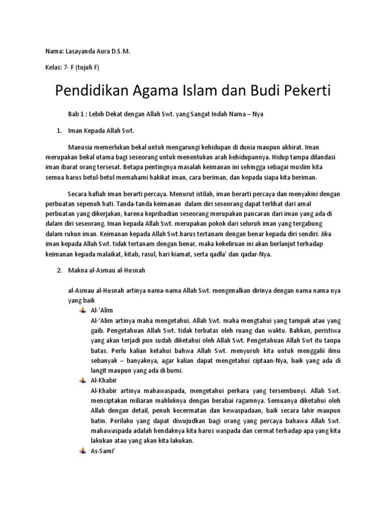 Eksposisi Tentang Pendidikan Budi Pekerti Yang Islami