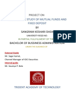 Comparative Study of Mutual Funds and Fixed Deposit by Sangram