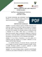 Ordenanza Sobre El Servicio Del Aseo Urbano y Domiciliario.doc2