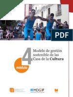 Modelo de Gestión Sostenible Para Casas de La Cultura