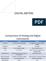 DIGITAL METERS-electrical Measurments