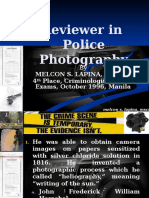 Reviewer in Police Photography for Distribution