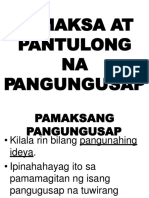 pamaksa at pantulongnapangungusap\