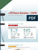 4G Huawei - CSFB VOLTE - LTE Voice Solution
