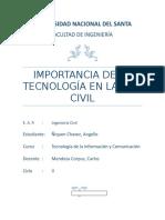 Importancia de La Tecnologia en La Ing. Civil