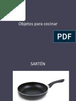 Objetos Para Cocinar