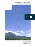 Resumen Mediciones Del Viento en Guatemala
