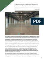 Harga Pekerjaan / Pemasangan Untuk Floor Hardener Termurah—☎ 0821 1372 4737