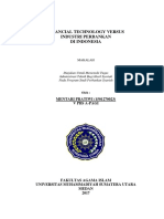 Makalah Fintech vs Industri Perbankan di Indonesia (penulis = Mentari Pratiwi)