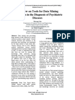 A Review on Tools for Data Mining Application in the Diagnosis of Psychiatric Diseases