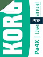 Korg Pa4X User Manual v2_0 E13