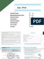 Seiko 7T12 Manual