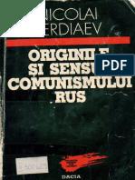 Nikolai Berdiaev_Originile Si Sensul Comunismului