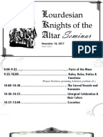 Lourdesian Knights of the Altar Seminar