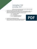 Petunjuk UAS Technopreneurship 2017