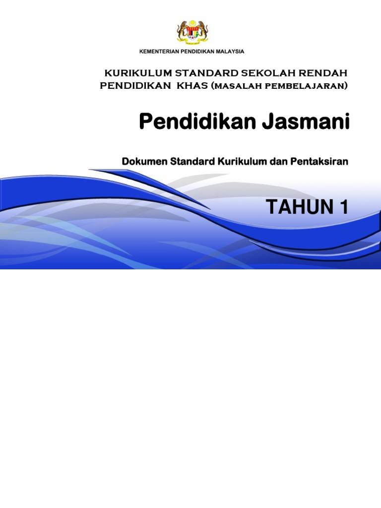 25 Dskp Kssr Pendidikan Khas Masalah Pembelajaran Tahun 1 Pendidikan Jasmani 02122016