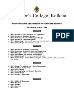 Syllabus Msc Comp Sc