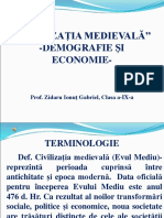 Prezentare Civilizaţia Medievală Demografie Şi Economie Cls. 9