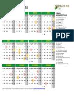 Calendario 2018 Bahia m