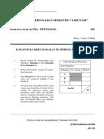 Kertas Penulisan UPSR@Bahasa Malaysia
