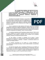 resolucion Convocatoria Ayudas a Artistas Plasticos