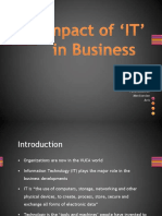 Impact of 'IT' in Business