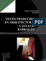 Texto Traducido en Arquitectura