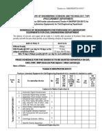 Tender Doc 635 for Civil Engineering Labs