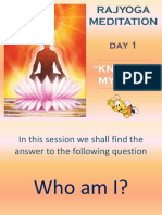 Rajyoga Meditation Day 1