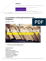C Compilation of All Legal Doctrines in the Philippines
