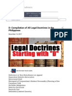 D Compilation of All Legal Doctrines in the Philippines