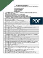 Lista de Productos de Interes