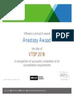 Certificate VTSP