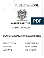 Chemistry Project :- ADULTERANTS IN FOOD STUFF
