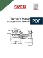 Torneiro Mecânico - Operações Em Torno Mecânico