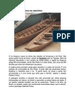 Produção de Canoas Na Amazônia