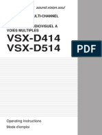 Operating Instructions VSX-D514