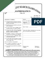GTSE Online Class IX Maths