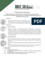 DIRECTIVA N°14-2017 NORMAS ORGANIZACIÓN Y FUNCIONAMIENTO DE LOS PRONOEI  , SELECCION DE PROMOTORAS