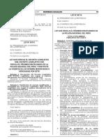 Ley que deroga el Decreto Legislativo 1268 Decreto Legislativo que regula el Régimen Disciplinario de la Policía Nacional del Perú y restituye la vigencia de las normas modificadas o derogadas por este.