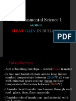 L6- Heat Gain in Buildings