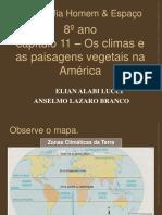 CLIMA E PAISAGEM NATURAL NA AMERICA.pps