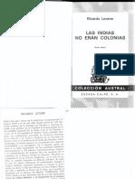 Las Indias No Eran Colonias - Ricardo Levene