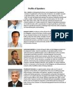 Profile of Speakers