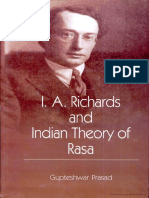 I.a. Richards and the Theory of Rasa - I.a. Richard, Gupteshwar Prasad